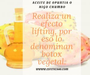 Aceite de opuntia, botox vegetal
