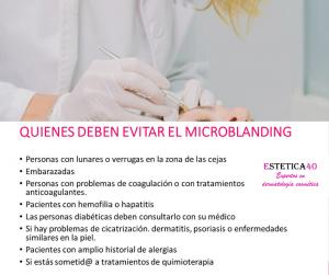 Personas que deben evitar el microblanding