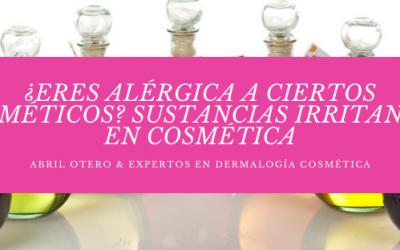 Intolerancia a los cosméticos ¿Eres alérgica a algún componente?